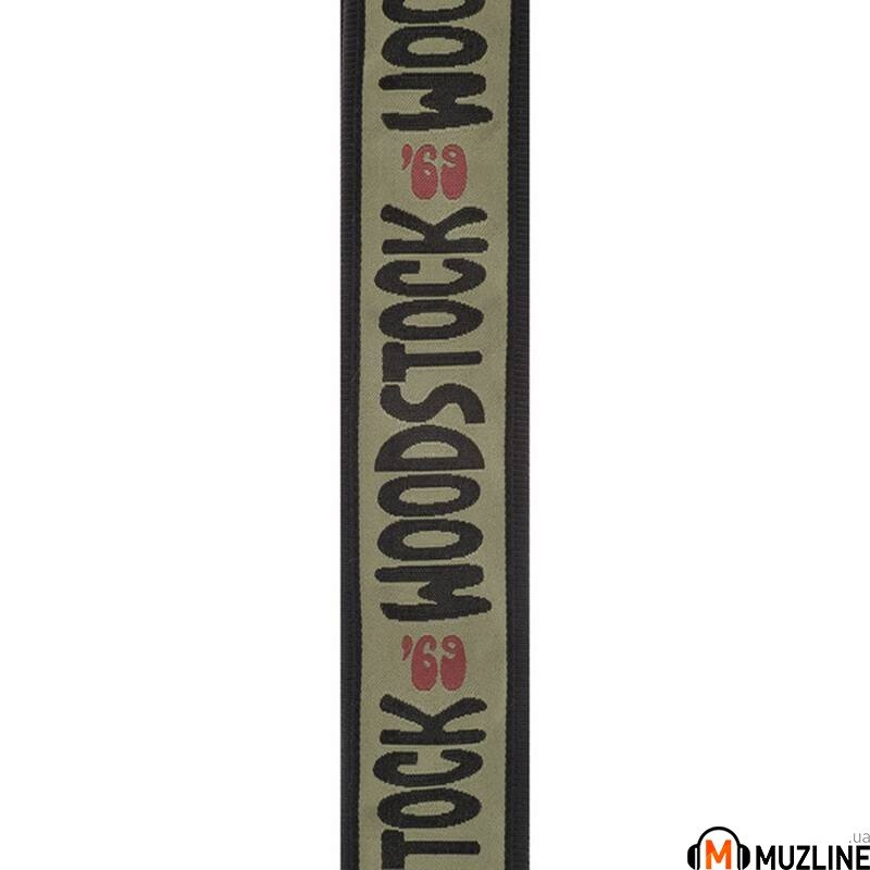 Planet Waves PW50W05 Woodstock Guitar Strap, Army 69