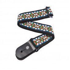 Planet Waves PW50E02 Woven Guitar Strap, Stained Glass