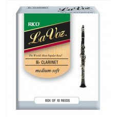 Трость Rico La Voz - Bb Clarinet Medium Soft - 10 box