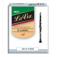 Трость Rico La Voz - Bb Clarinet Soft - 10 box