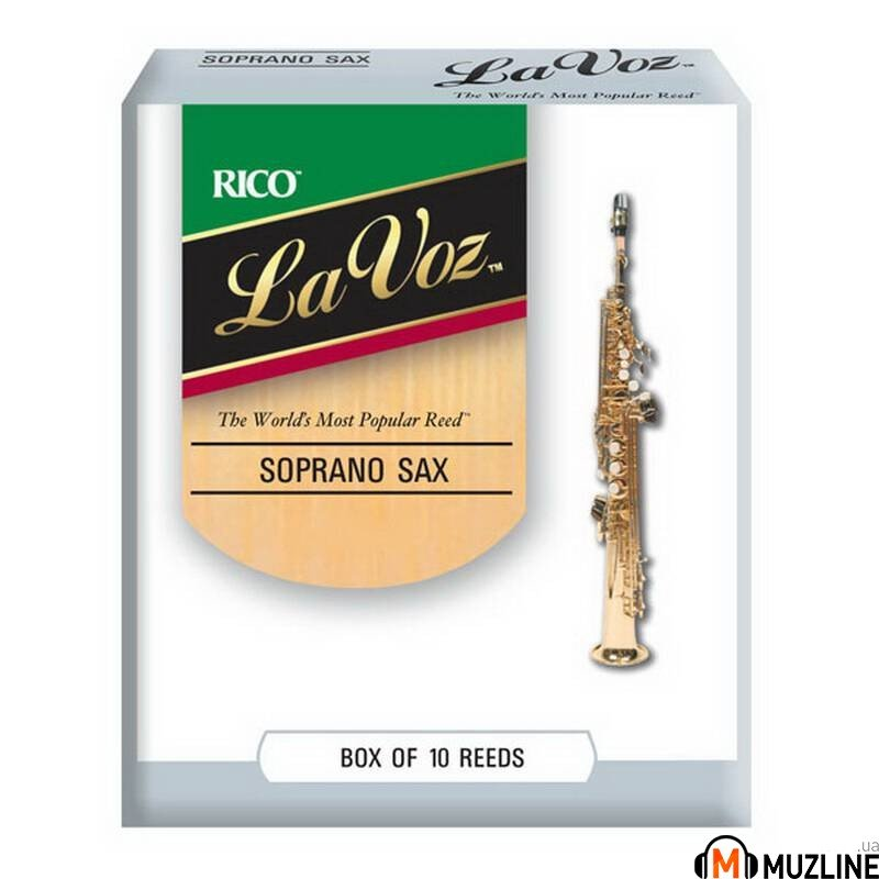 Трость Rico La Voz - Soprano Sax Medium Soft - 10 Box