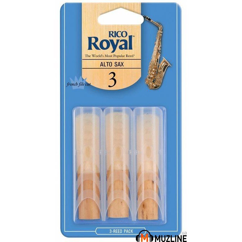 Трость Rico Rico Royal - Alto Sax #3.0 - 3-Pack