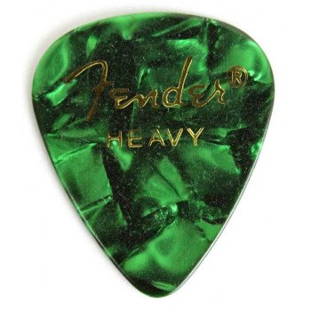 Fender 351 Premium Celluloid Green Moto Heavy