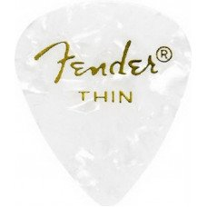 Fender 351 Premium Celluloid White Moto Thin