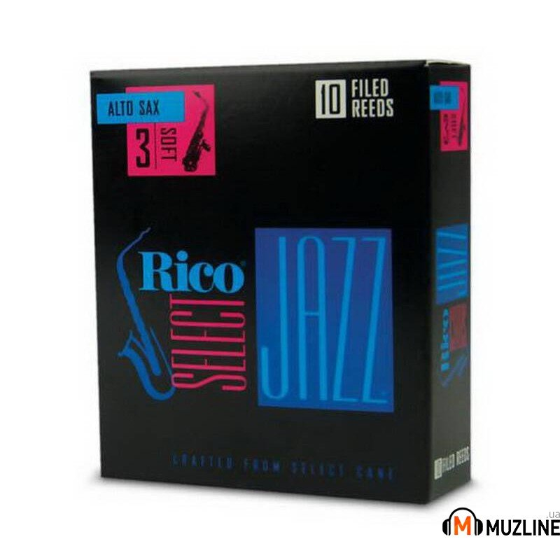 Трость Rico Rico Select Jazz - Alto Sax Filed 3S - 10 Box