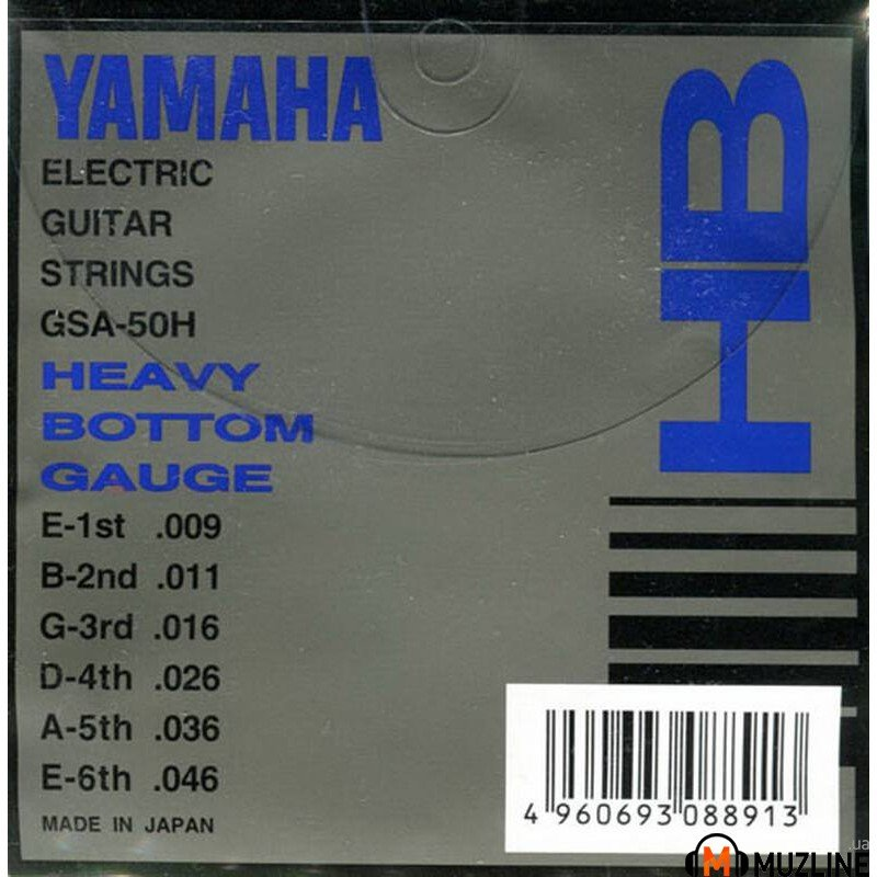 Струны для электрогитары Yamaha GSA50H Electric Heavy Bottom 09-46