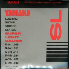 Струны для электрогитары Yamaha GSA50S Electric Super Light 09-42