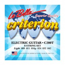 Струны для электрогитары La Bella C200T Criterion Electric Guitar, Nickel-Plated Round Wound – Light
