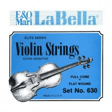 Струны для скрипки La Bella 630 Violin String Set, Chrome Steel Flat Wound