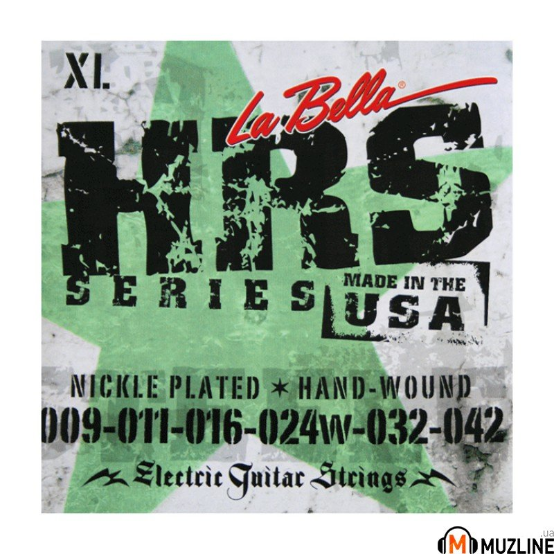 Струны для электрогитары La Bella HRS-XL Nickel-Plated Round Wound – Extra Light 09-42