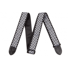 Fender 2 Nylon Checker Board Strap Black/White