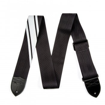Fender Strap Competition Stripe Black And Silver