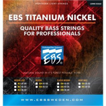 Струны для бас-гитары EBS TN-ML 5-strings (40-125) Titanium Nickel