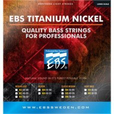 Струны для бас-гитары EBS TN-MD 4-strings (45-100) Titanium Nickel
