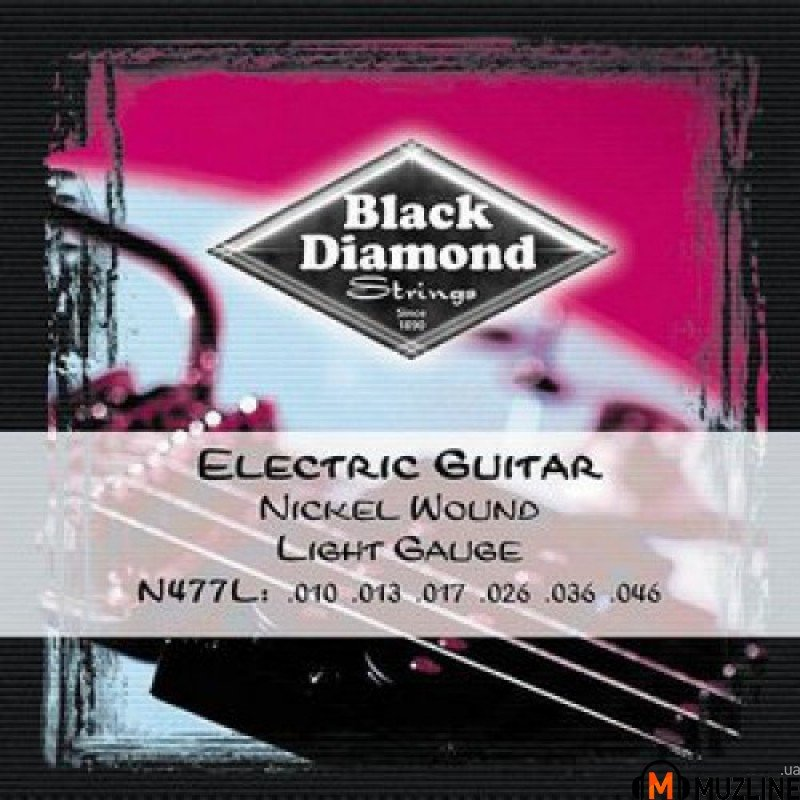 Струны для электрогитары Black Diamond N477L