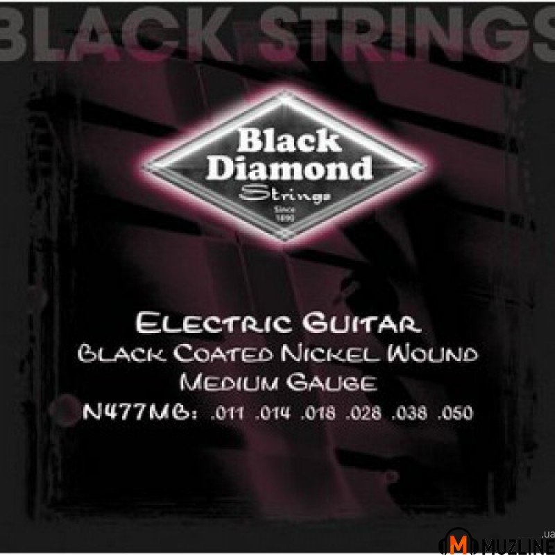 Струны для электрогитары Black Diamond N477MB