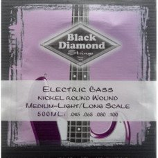 Струны для бас-гитары Black Diamond N500ML