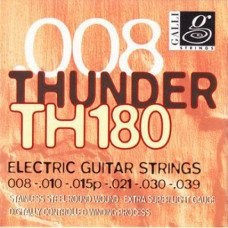Струны для электрогитары Galli Thunder Hunter TH180 Extra Super Light