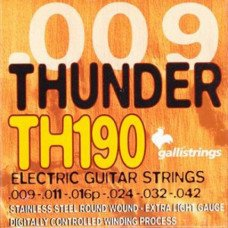 Струны для электрогитары Galli Thunder Hunter TH190 Extra Light
