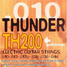 Струны для электрогитары Galli Thunder Hunter TH200 Regular Light