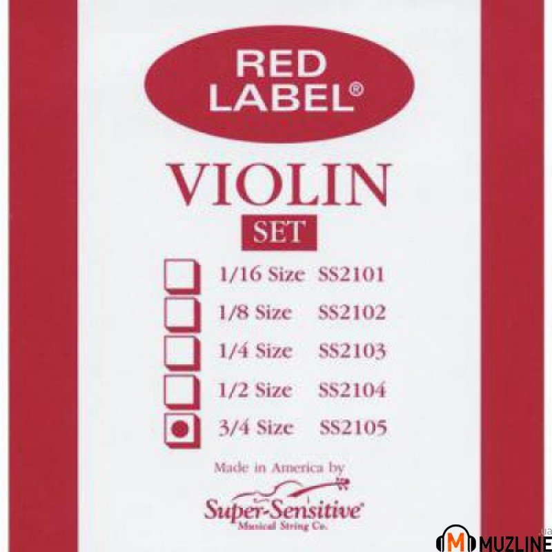 Струны для скрипки Super Sensitive Red Label SS2105