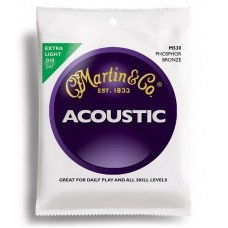 Струны для акустической гитары Martin M530 Traditional Acoustic 92/8 Phosphor Bronze Extra Light (10-47)