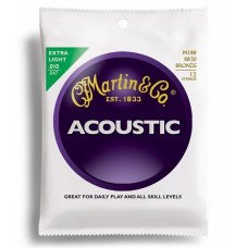 Martin M180 Traditional Acoustic 80/20 Bronze Extra Light 12-String (10-47)