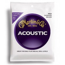 Струны для акустической гитары Martin M535 Traditional Acoustic 92/8 Phosphor Bronze Custom Light (11-52)