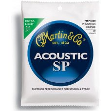 Струны для акустической гитары Martin MSP4600 SP Acoustic 92/8 Phosphor Bronze Extra Light 12 String (10-47)