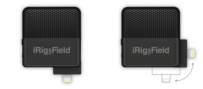 iRig Mic Field - 90 degrees rotatable